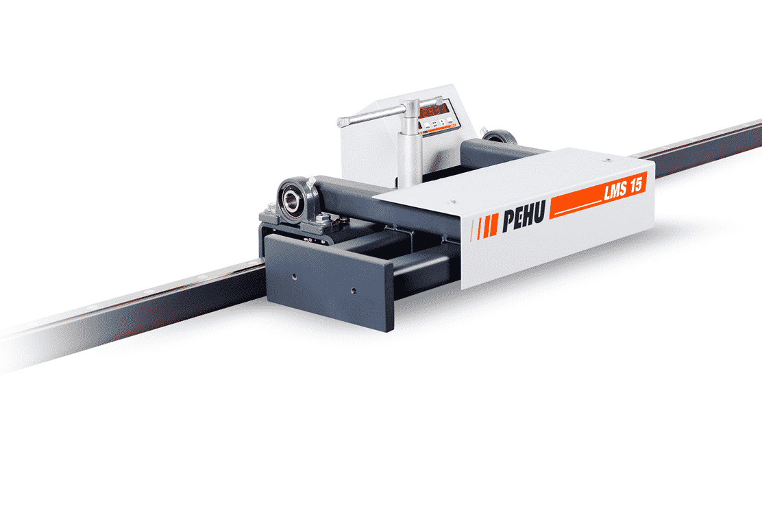 Front view Pehu-LMS15-Roller-Track-Measuring-System-Front-View
