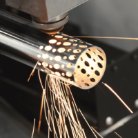 Detail of the Laser Head Cutting Tube