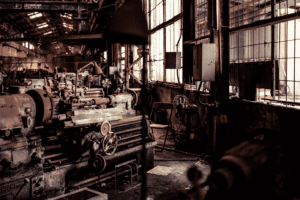 Image of old machinery in an old warehouse