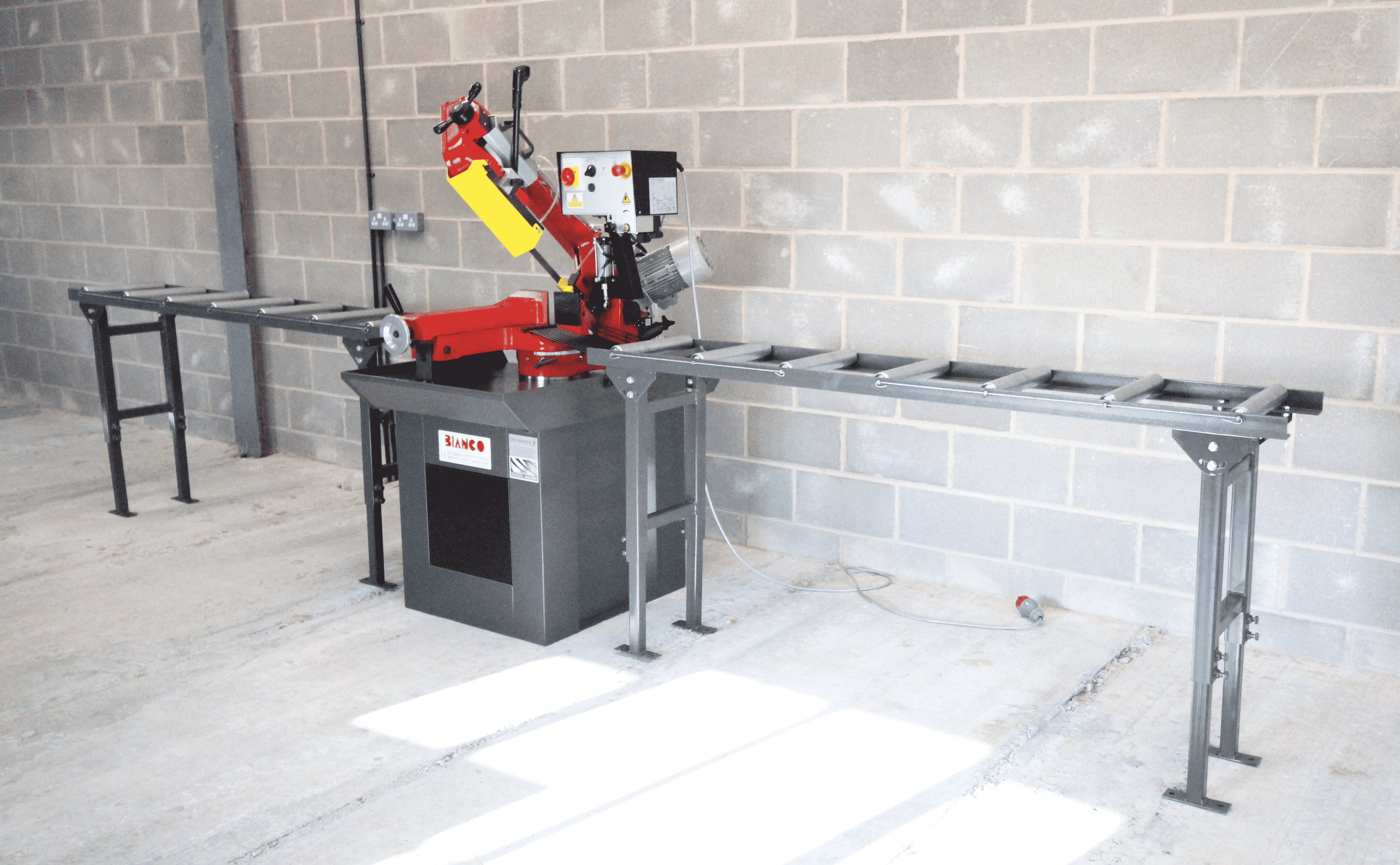 Roller track with Bianco bandsaw